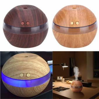 Air Aroma Essential Oil Diffuser LED Ultrasonic Aroma AromatherapyHumidifier Black - intl