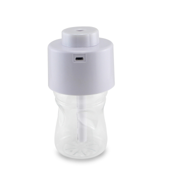 Air Diffuser Aroma Mist Maker with Bottle+2pcs Absorbent FilterSticks USB Portable ABS Water Bottle Cap Humidifier White