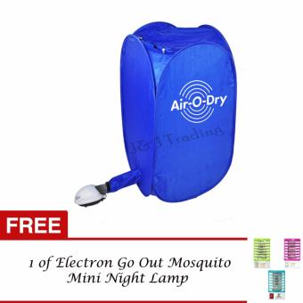 Air O Dry Portable Clothes Dryer (Blue) with FREE 1 of Electron GoOut Mosquito Mini Night Lamp Price Philippines