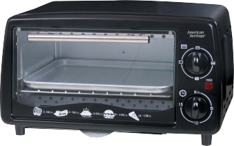 American Heritage AHOT-6097 12L Oven Toaster (Black)