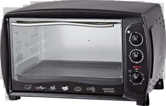 American Heritage AHOT-6099 43L Electric Oven w Rotisserie (Black)