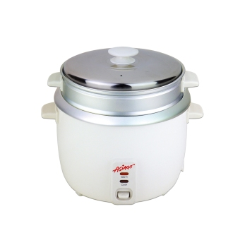 ASIAGO 1.8L Rice Cooker with Steamer (White)