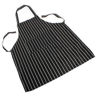 Aukey Adjustable Stripe Apron with 2 Pockets