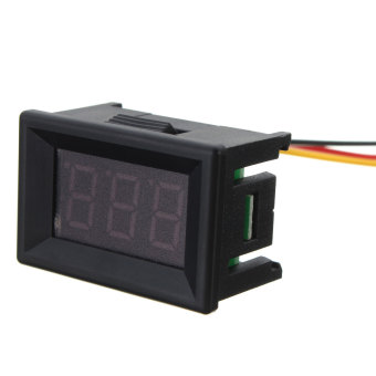Autoleader DC 0-30V 3 Wire LED Display Digital Voltage Meter Voltmeter Panel For Car Motor Blue (Intl)