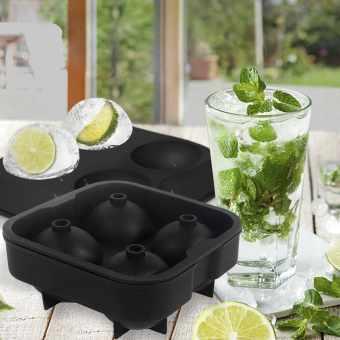 Ball shape silicone Ice Tray-black