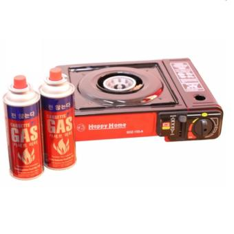 BDZ-155-A Portable Gas Stove (Black and Red) with 2x Casette GasAnd Plus FREE 1xRefillable Butane Gas Lighter - 4