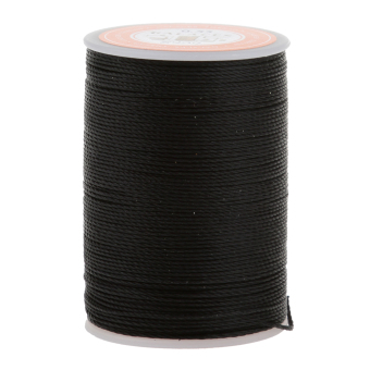 BolehDeals Leather Craft Handwork Sewing Round Waxed String Thread0.55mm Black Price Philippines