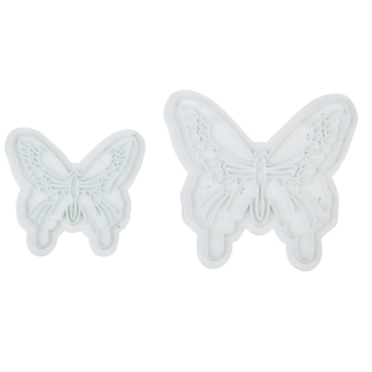 Butterfly Cake Fondant Decorating Sugarcraft Cookie Plunger Cutters Mold 2 Piece Set