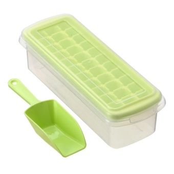 BUYINCOINS 33 Cell Ice Mold Set Popsicle Ice Molds Icepop Maker Frozen Ice Cube Mould Set(Green) - intl