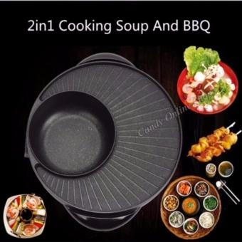 Candy Online 2 in 1 BBQ Grill & Steamboat Hot Pot Shabu RoastFry Pan - 3
