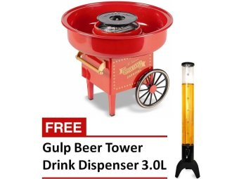 CCM-500 Carnival Cotton Candy Maker (Red) with FREE Gulp Beer Tower Drink Dispenser 3.0L