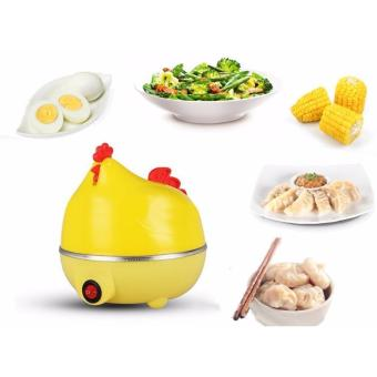 Chicken Shape Microwave 7 Egg Boiler Steamer Poacher Cooker Kitchen Tools (Yellow)