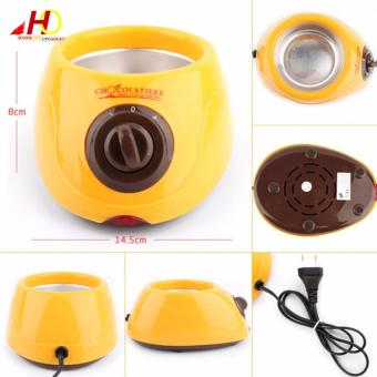 Chocolatiere Household Electric Chocolate Melting Pot Candy Melt Chocolate Cheese Boiler (Yellow) - 5