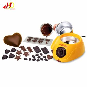 Chocolatiere Household Electric Chocolate Melting Pot Candy MeltChocolate Cheese Boiler (Yellow) Price Philippines
