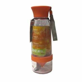Citrus Juicer Infuser Drinking Water Bottle (Orange)