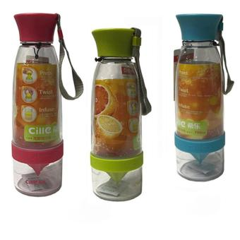 Citrus Juicer Infuser Water Bottle Set Of 3 (Multi-Color)