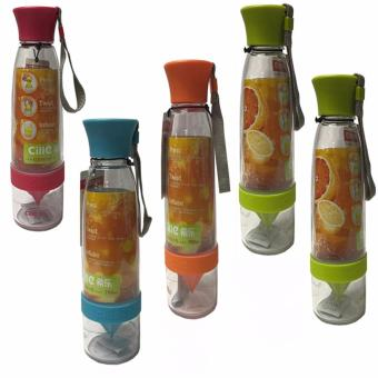 Citrus Juicer Infuser Water Bottle Set of 5 (Multi-Color)