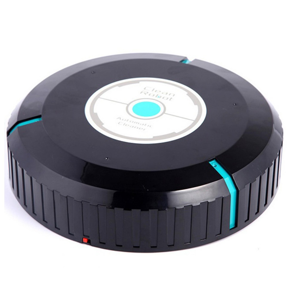 ... Clean Robot Vacuum Cleaner Home Sweeping Robots for Vacuuming Dust Cleaner Black Round Automatic Sweeper Design ...