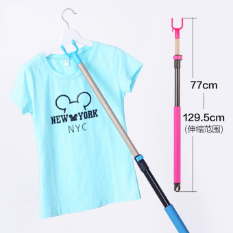 Clothes Rod drying clothes rod laundry fork rod retractable clothesline pole