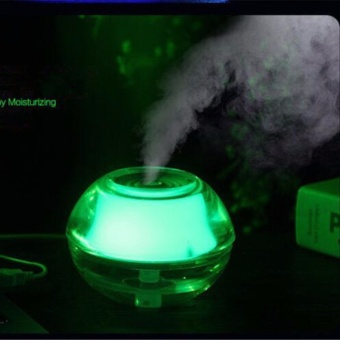 Crystal Night Light USB Air Humidifier(Green)With Free Essential oil