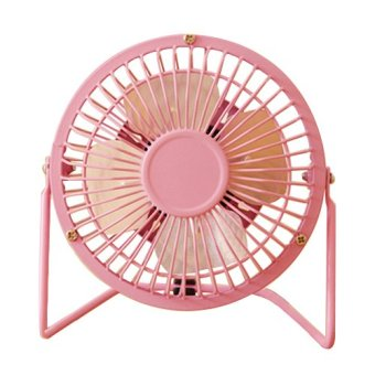 D&D Super Mute 360-degree Rotating Metal Blade USB Mini Desktop Cooling Electric Fan (pink) Price Philippines