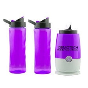 Demotech Mix & Go Personal Blender with 2 Tumbers (Purple) Price Philippines