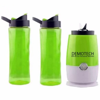 Demotech Mix & Go Personal Blender with 2 Tumbers (Green)