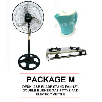 "Denki ASB Blade Stand Fan 18"", Double Burner Gas Stove and ElectricKettle Price Philippines"