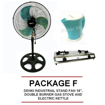 "Denki DISF-18 18"" Metal Blade Stand Fan, DOUBLE BURNER GAS STOVEAND ELECTRIC KETTLE Price Philippines"