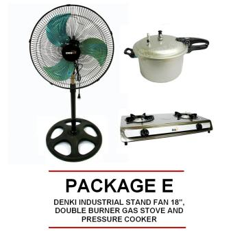 "Denki DISF-18 18"" Metal Blade Stand Fan, DOUBLE BURNER GAS STOVEAND PRESSURE COOKER Price Philippines"