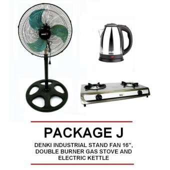 "Denki Industrial Stand Fan 16"", Double Burner Gas Stove AndElectric Kettle Price Philippines"