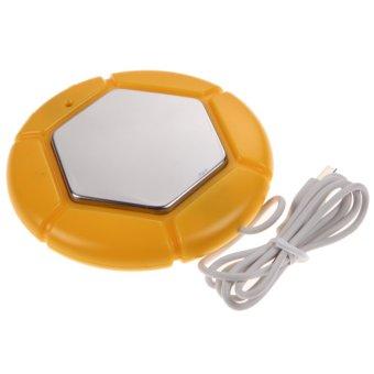 Desktop USB Electric Heat Insulation Plate Warmer (Orange)