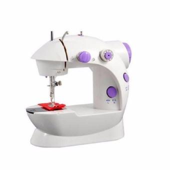 Double Thread Sewing Machine (White/Voilet)
