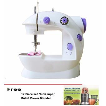 Double Thread Sewing Machine with Foot Pedal and Adapter free 12Piece Set Nutri Super Bullet Power Blender