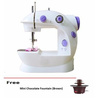 Double Thread Sewing Machine with Foot Pedal and Adapter free MiniChoco Fountain