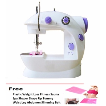 Double Thread Sewing Machine with Foot Pedal and Adapter free saunashape up for belly