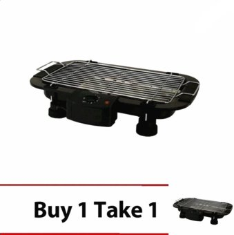 Electric Barbecue Grill Outdoor BBQ (Black) Buy 1 Take 1 - picture 2