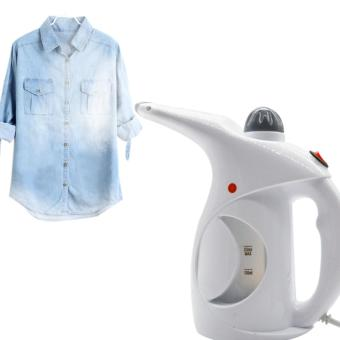 Electric Garment Steamer Brush for Ironing Clothes Portable HandHeld White - intl