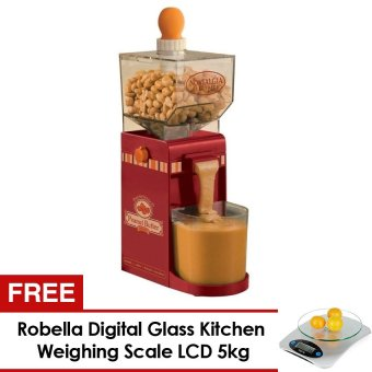 Electric Homemade Peanut Butter Machine (Red) and FREE RobellaDigital Glass Kitchen Weighing Scale LCD 5kg