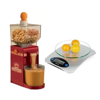 Electric Homemade Peanut Butter Machine With Digital Glass KitchenWeighing Scale LCD 5kg