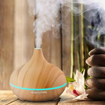Essential Oil Diffuser Air Aroma Mist Theapy Vapor Ultrasonic Light Purifier Khaki - intl