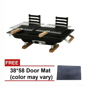 FH-8317 Hibachi All-Steel Griller (Black) with Free 38 x 58 Doormat Price Philippines