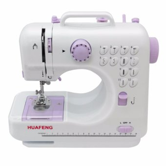 FHSM Pro505 Mini Portable Handheld 12 Function Sewing Machine (White/Purple)