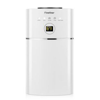 Finether 1.1L/D Digital Air Dehumidifier Anion UV Air Purify EU Plug (White) - intl Price Philippines
