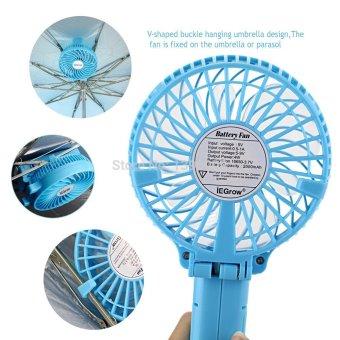 Foldable Hand Fans Battery Operated Rechargeable Handheld Mini Fan Electric Personal Fans Hand Bar Desktop Fan - 5