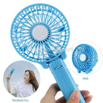 Foldable Hand Fans Battery Operated Rechargeable Handheld Mini Fan Electric Personal Fans Hand Bar Desktop Fan - 4