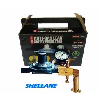 (For Shellane) LPG Anti Gas Leak Safety Regulator with AdjustableFlow Control