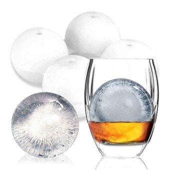 Fruit Ice Ball Maker Bar Kitchen Accessories DIY Creative Big IceBall Cube Mold Round Shape Silicone Ice Tray - intl
