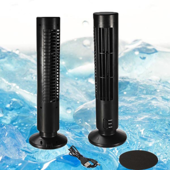 GMY 2-Speed USB Tower Fan (Black) - 2