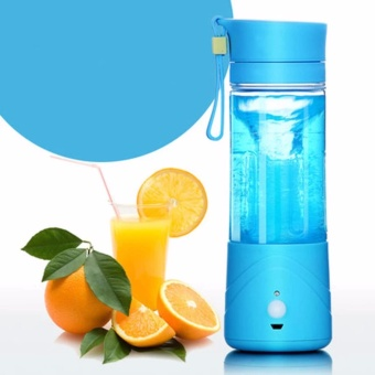 GMY Electric Fruit Juicer Smoothie Maker Blender RechargeablePortable - (Sky Blue) Price Philippines